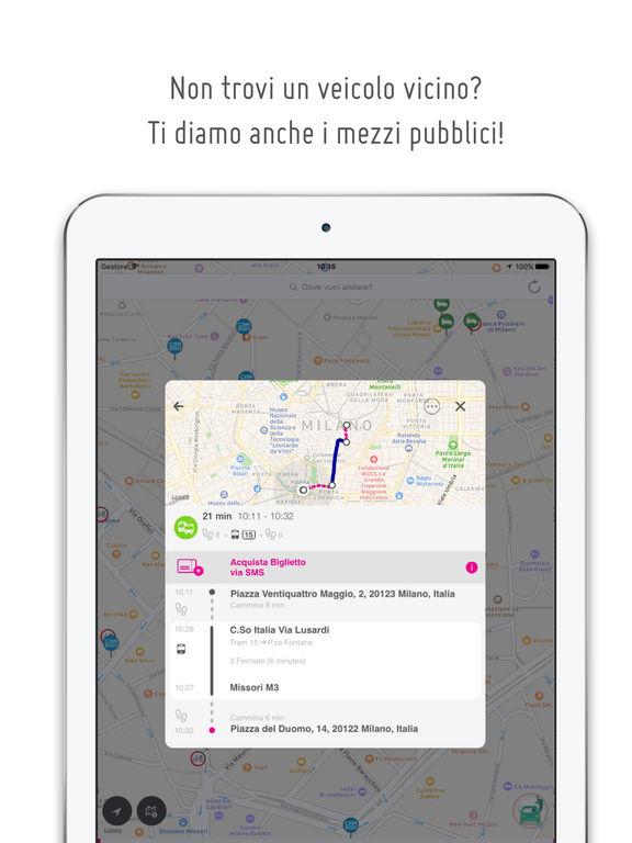 urbi - una sola app per tutti i carsharing Screenshot