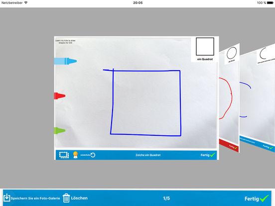 Lehren sie ihre Kinder die Formen malen Screenshot
