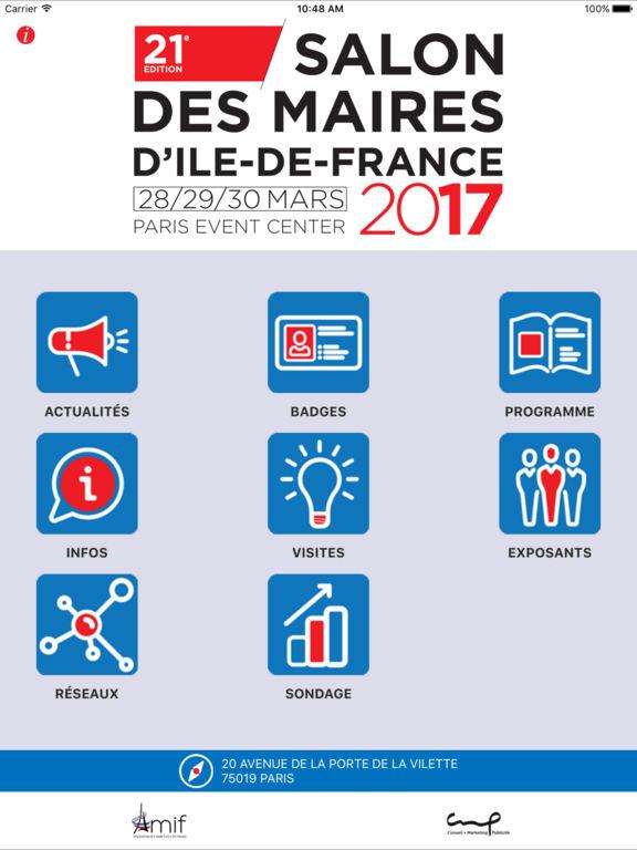 Salon des maires ile de france on the app store for Inscription salon des maires