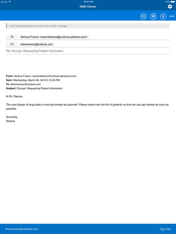 Office 365 Message Encryption Viewer Screenshot