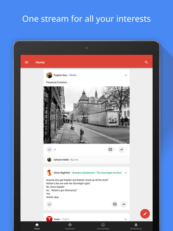 Google+ – Interessen, Communities, Suche Screenshot