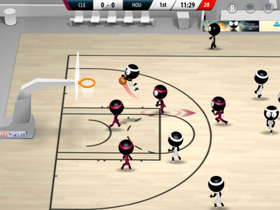 Screenshot 1 Stickman Basketball 2017