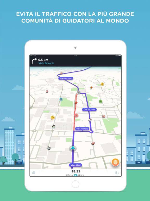 Waze - GPS, Mappe & Social info traffico Screenshot