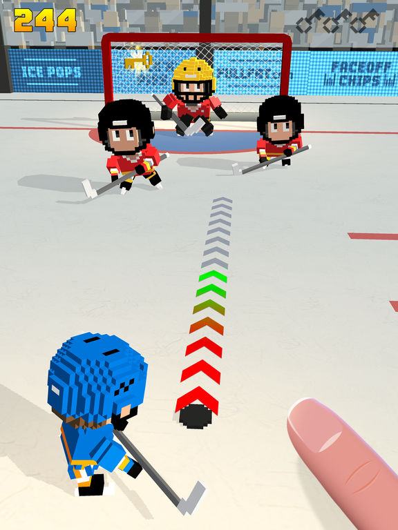 Blocky Hockey - Arcade Ice Runner iPhone iPad