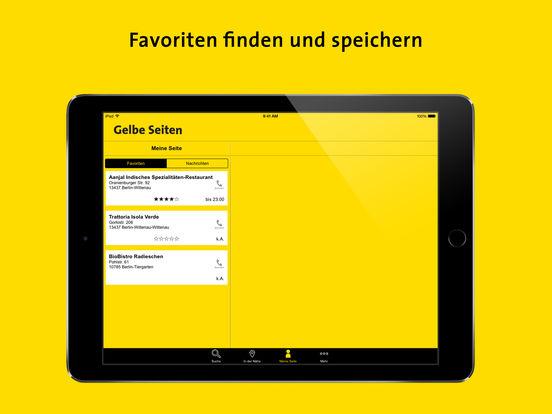 Gelbe Seiten Screenshot