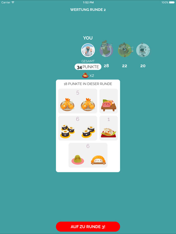 Sushi Go! iOS