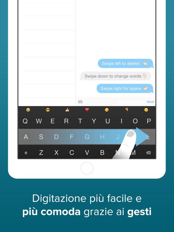 Tastiera Fleksy: GIF, Estensioni personalizzate e temi Screenshot