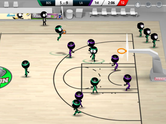 Screenshot 4 Stickman Basketball 2017