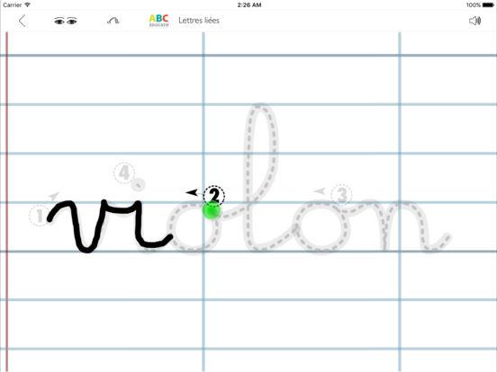 ABC-Lettres-Liées iPad