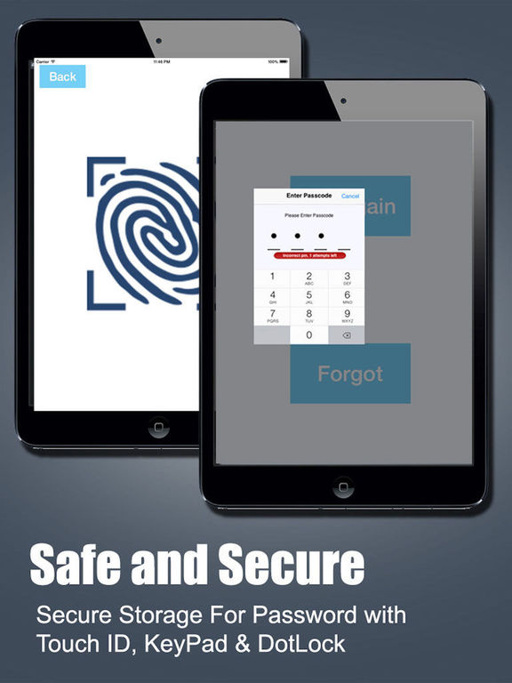 Password Manager Fingerprint Password Secure Vault Screenshots