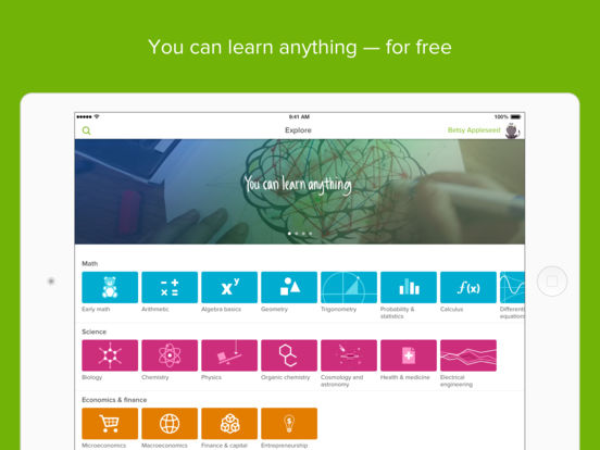 Khan Academy: you can learn anything Screenshot