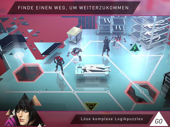 Deus Ex GO - Fesselndes Puzzlespielspiel Screenshot