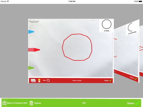 Learn Kids to draw shapes Screenshots