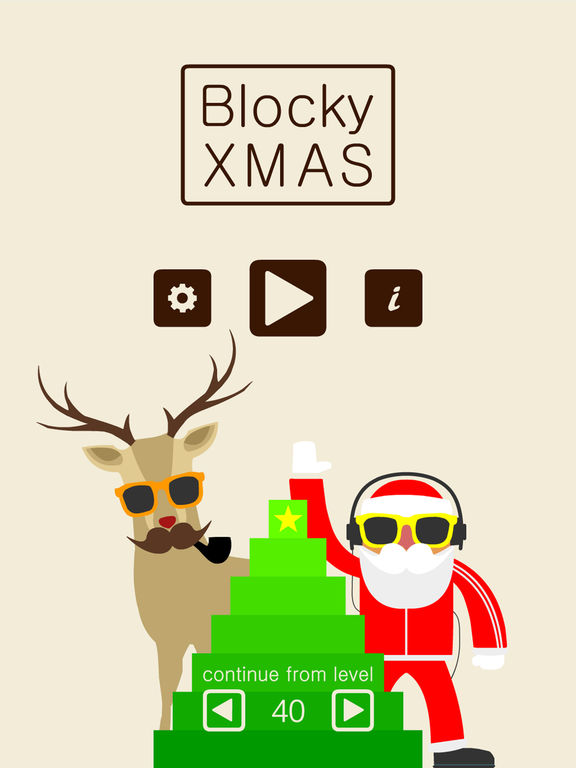 Blocky XMAS iOS Screenshots
