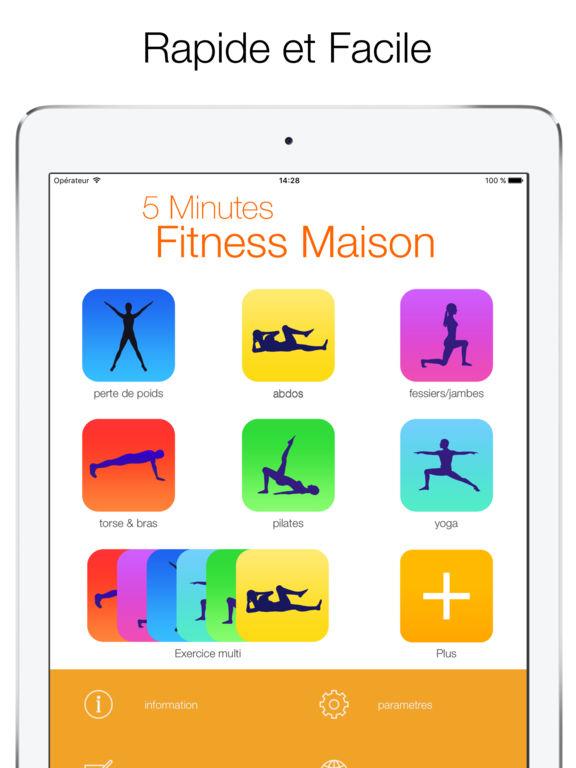 5 minutes fitness maison exercices rapides dans l app store. Black Bedroom Furniture Sets. Home Design Ideas