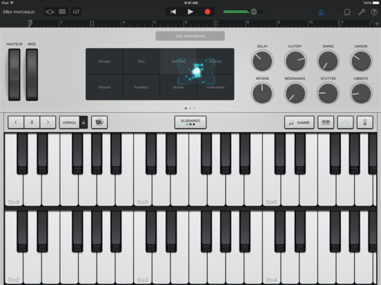 GarageBand Capture d'écran