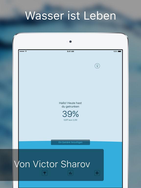 Mein Wasser: Trinken Erinnerung & Trink Wecker App Screenshot