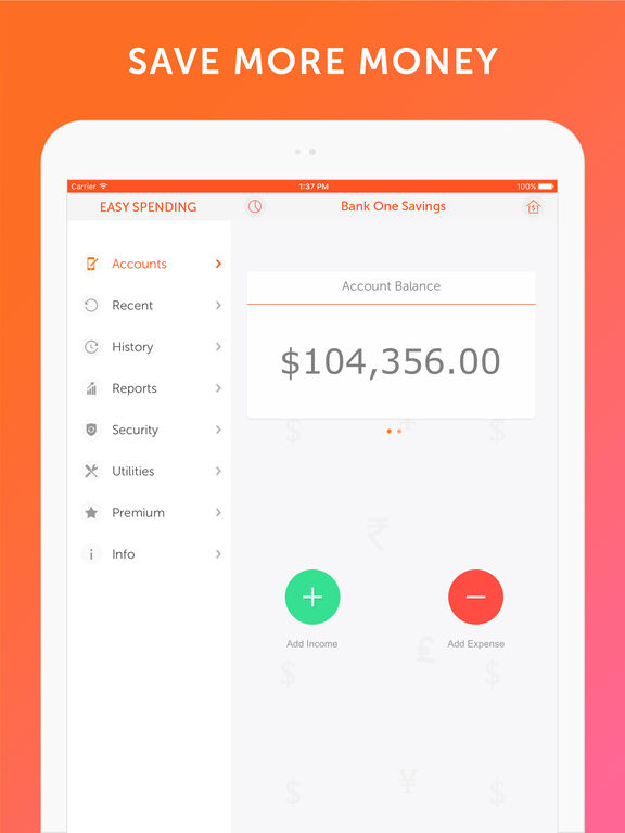Easy Spending - Expense tracker, Money Management Screenshot