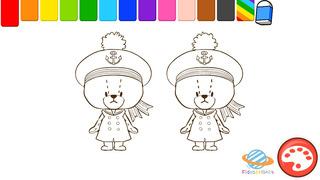 親子で一緒に楽しめる幼児・子供向け無料アプリ「がんばれ!ルルロロのぬりえ絵本」色彩感覚と感性を豊かにする知育学習のおすすめ画像5