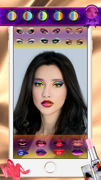 バーチャル メイクアップ シミュレーター 美容院 ・ 写真 加工 モンタージュ \u2013 女の子のゲーム  ム