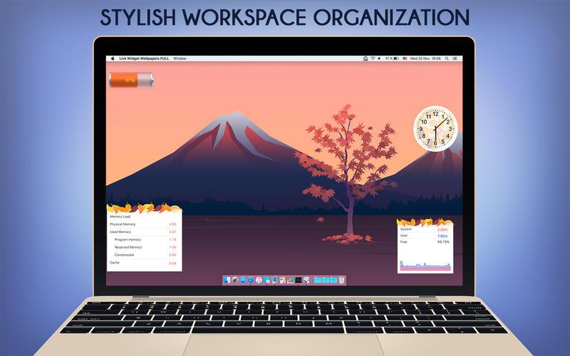 2017年4月8日Macアプリセール システムステータス・ライブ壁紙アプリ「Live Widget Wallpapers FULL」が値下げ!