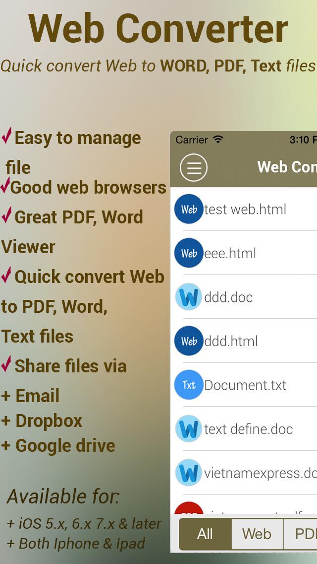 2016年6月13日iPhone/iPadアプリセール ドキュメント管理マネージャーアプリ「Web Converter」が無料!