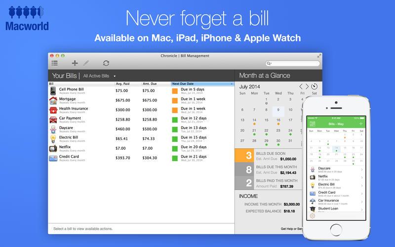 2015年12月17日Macアプリセール ファイナンスマネージャーアプリ「Chronicle」が値下げ!
