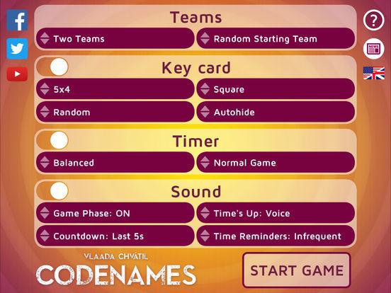 Codenames Gadget Screenshot