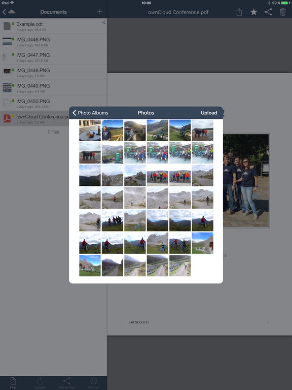 ownCloud Screenshots