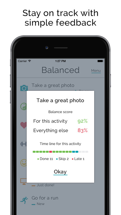 Balanced - Habits tracker & life goals motivation Screenshots