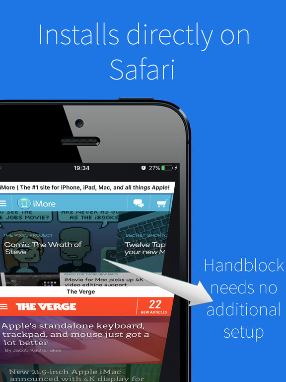 Handblock - Block ads & tracking from Safari Screenshots