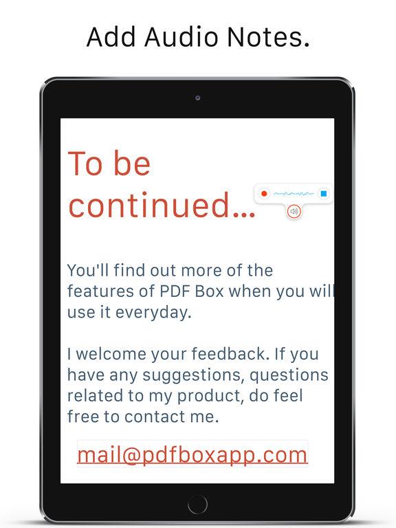 PDF Box – Read, Edit, and Annotate Screenshots