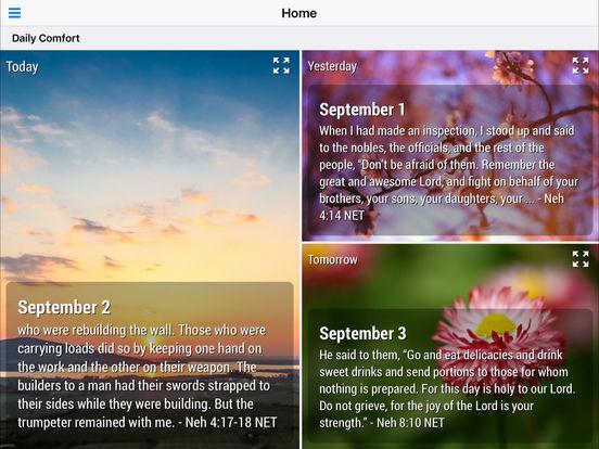 God's Comfort - Bible Devotional Screenshots