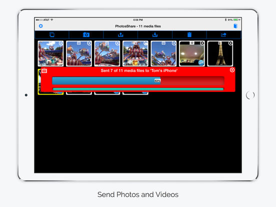 PhotosShare - Easily share Photos and Videos over Bluetooth between devices Screenshots