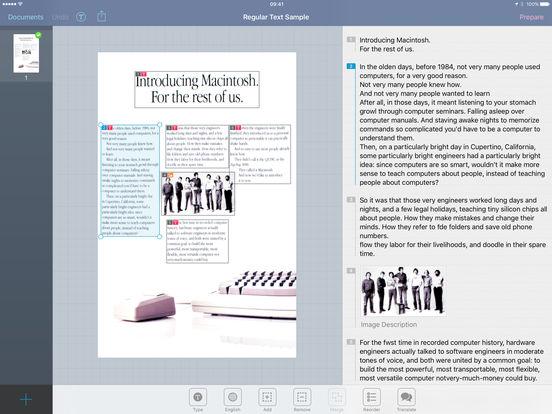 Prizmo - Scanning, OCR, and Speech Screenshots
