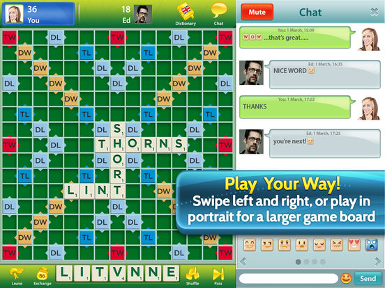 SCRABBLE™ for iPad Screenshots