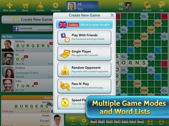 SCRABBLE™ for iPad Screenshots