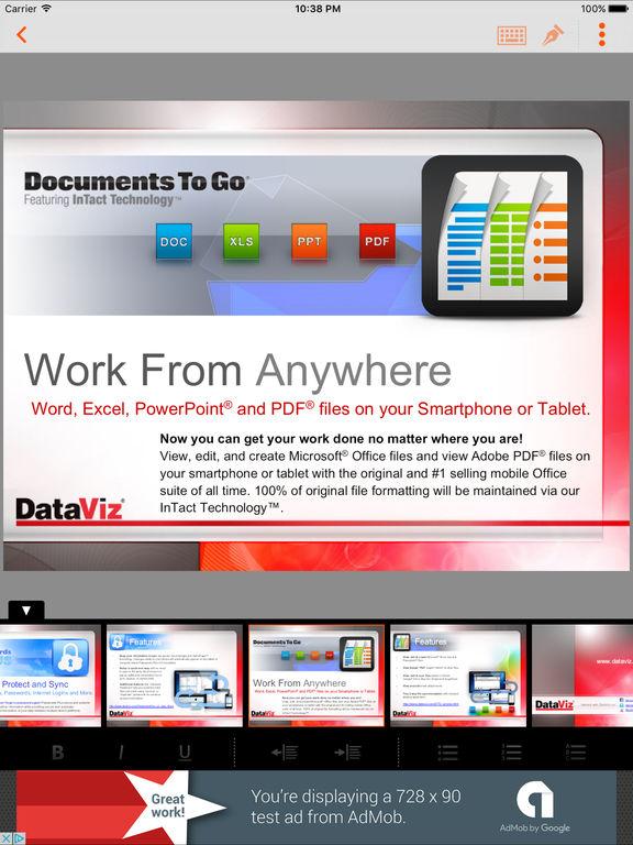 Docs To Go Free Screenshots