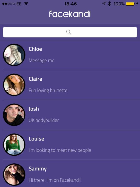 Facekandi Chat for Chatroulette & FaceTime Screenshots