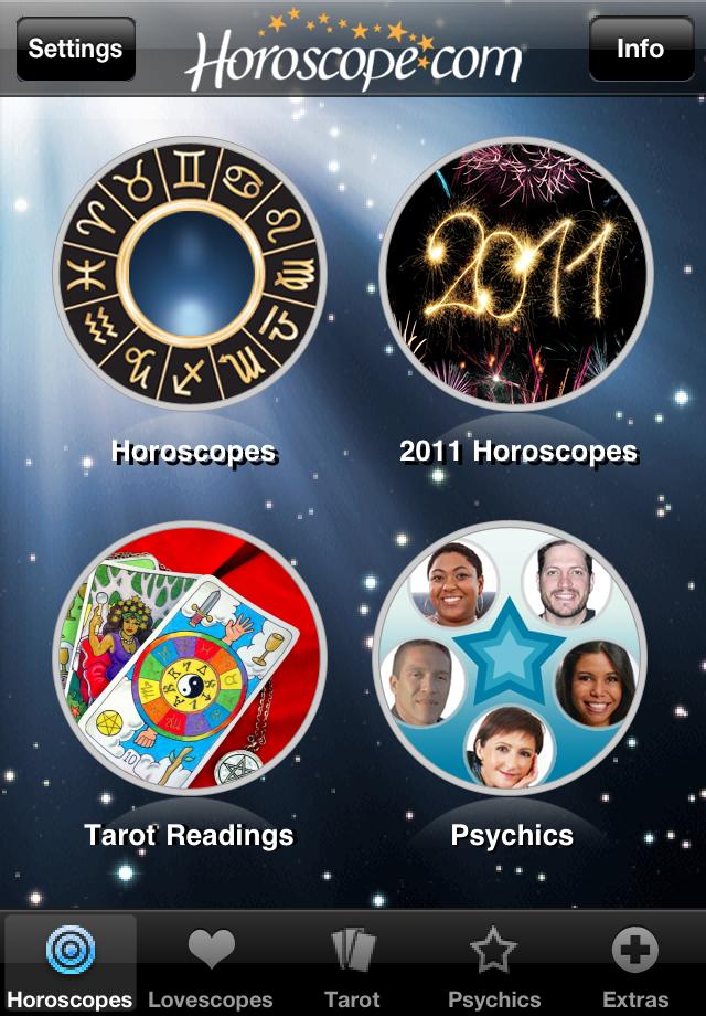 Horoscopes and Tarot free app screenshot 1