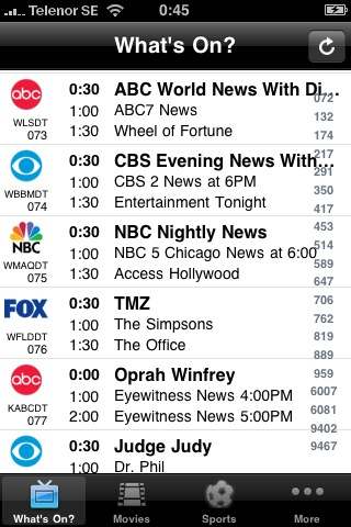 TV-Guide USA free app screenshot 1