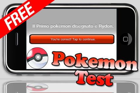 Pokemon Test FREE free app screenshot 1