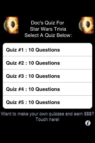 Star Wars Trivia - FREE free app screenshot 1