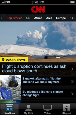CNN App for iPhone (International) free app screenshot 1