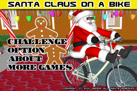 Santa on a Bike FREE free app screenshot 1