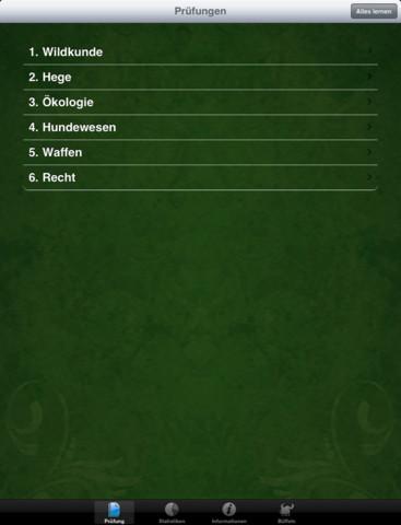 Jagdschein Sachsen-Anhalt iPad Screenshot 1