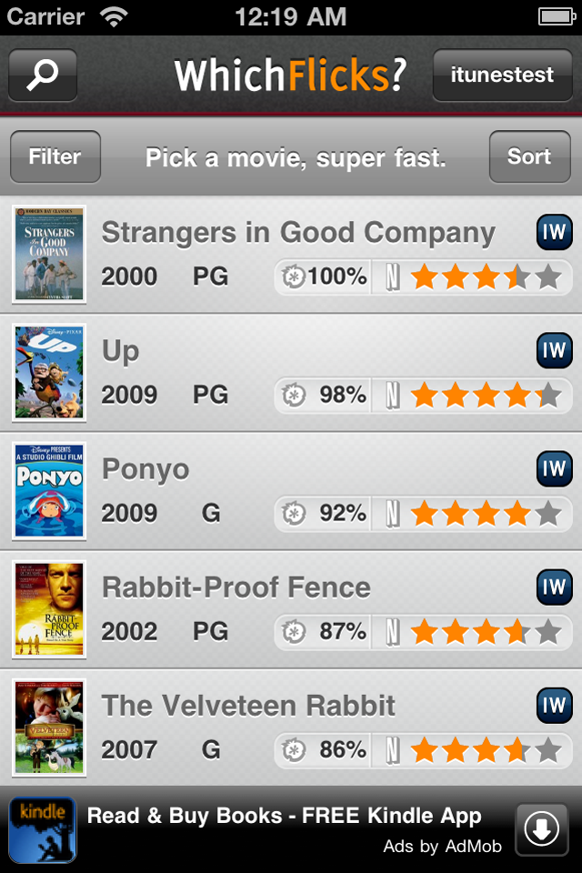 WhichFlicks - Manage your Netflix Queue and Fin... free app screenshot 1