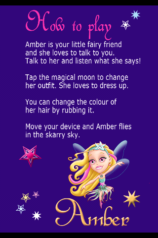 Amber, the talking Fairy Princess Screenshot