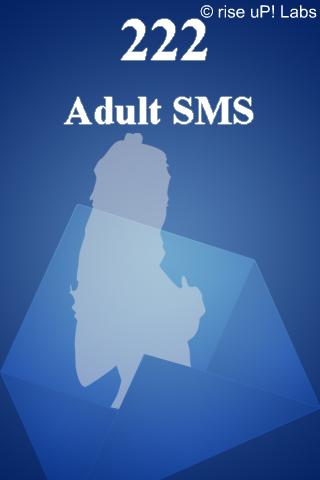 222 Adult SMS free app screenshot 1