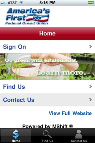 Image of america s first federal credit union mobile ban for